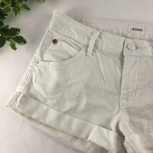 Hudson White Cuffed Short Shorts Size 26
